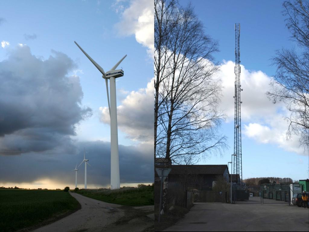 Vindkraft och 3G-mast